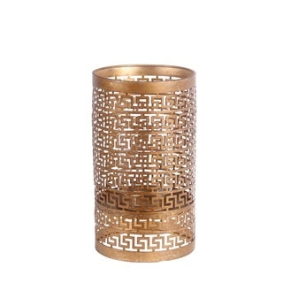 Privilege International Gold Iron Large Candle Holder