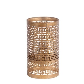 Privilege International Gold Iron Medium Candle Holder