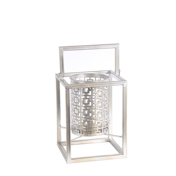 Privilege International Silver Iron Candle Holder