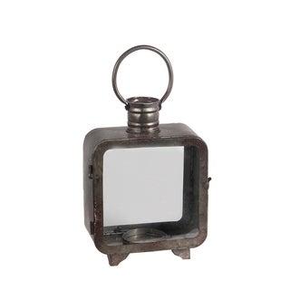 Privilege Grey Metal Medium Lantern