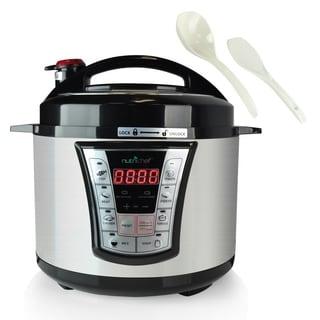 NutriChef PKPRC66 Multi-Function Food Prep Pressure Cooker/ Rice Cooker