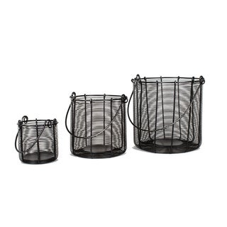 Privilege Black Iron 3-piece Hanging Baskets