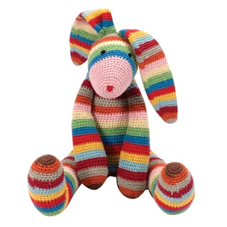 Schylling Rainbow Stripes the Long Earred Bunny Plush Toy