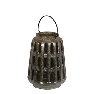 Privilege Brown Small Ceramic Lantern