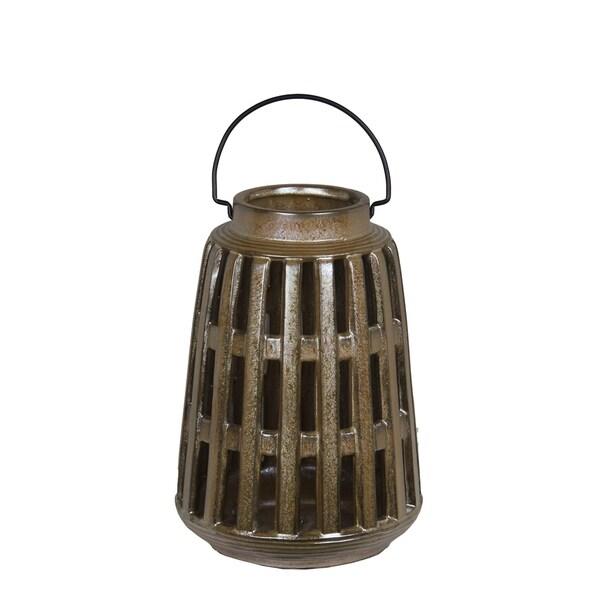 Privilege Brown Ceramic Large Lantern