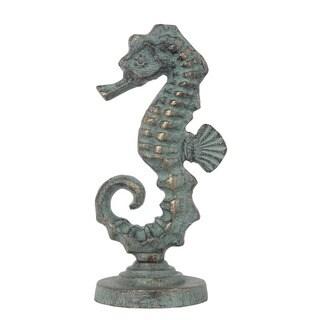 Privilege Verde Green Metal Seahorse Finial