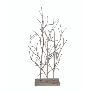 Privilege Brown Metal and Wood Small Tree Table Decoration