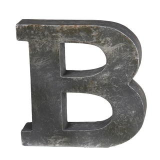 Privilege International Grey Ceramic Letter 'B' Figurine