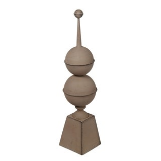 Privilege Beige Large Metal Finial