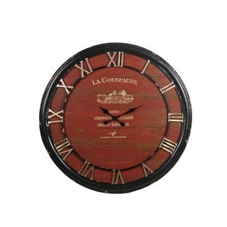 Privilege Red Iron Clock