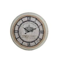 Privilege International White Metal Clock