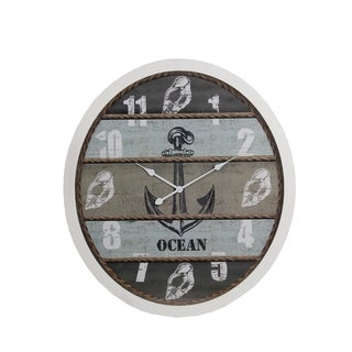Privilege International Wood Coastal Clock
