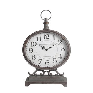 Privilege International Iron Table Clock