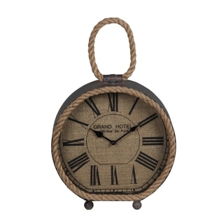Privilege Brown Wood Table Clock With Rope