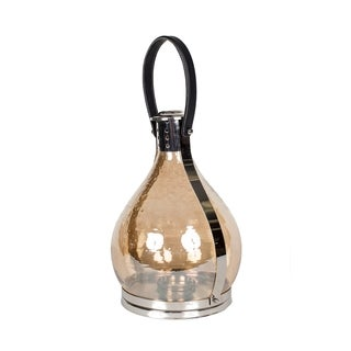 Privilege Nickel-finish Aluminum/Glass Candle Lantern