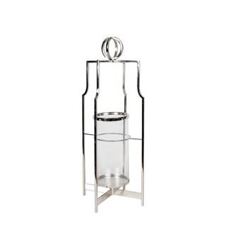 Privilege International Nickel-finished Aluminum Candle Lantern