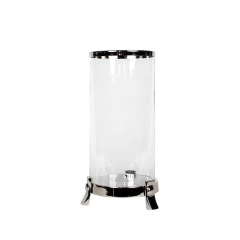 Privilege Nickel-finish Aluminum Candle Lantern