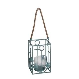 Privilege International Blue Anchor Candle Lantern