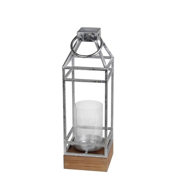 Privilege Silver-leaf Metal Large-sized Candle Lantern