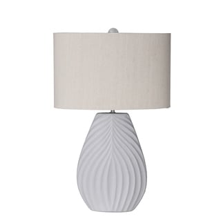 Privilege International White Ceramic Table Lamp