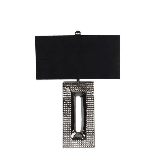 Privilege Silver/Black Ceramic 1-light Table Lamp