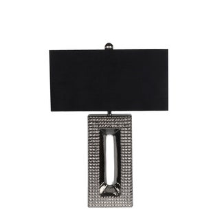 Privilege Silver/Black Ceramic 1-light Table Lamp