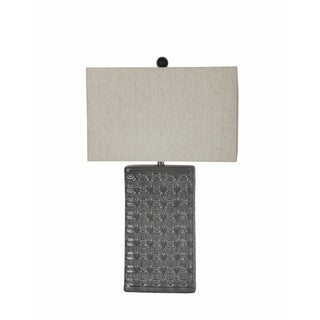 Privilege Bevelled Geometric Beige Ceramic Table Lamp