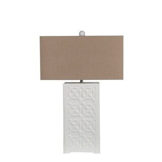 Privilege Beige/White Ceramic Table Lamp