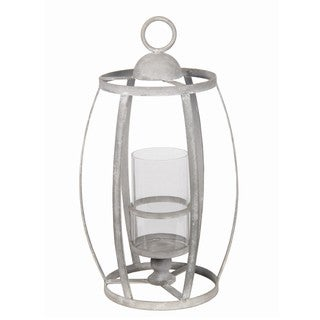 Privilege Grey Iron Small Candle Lantern