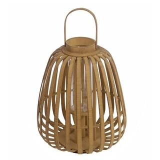 Privilege International Tan Bamboo Large Lantern
