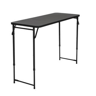 COSCO 20 x 48 Adjustable Height PVC Top Black Table