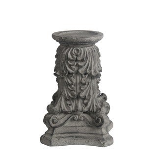 Privilege Grey Concrete Large Candleholder