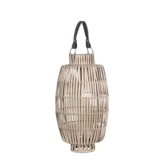 Privilege Off-white Bamboo Medium Candle Lantern