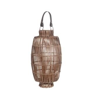 Privilege International Brown Bamboo Candle Lantern