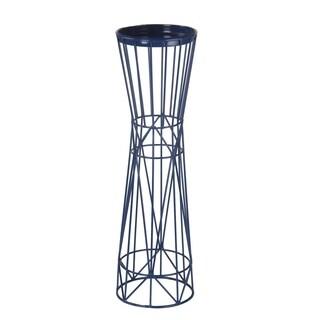 Privilege Blue Iron Large Candleholder
