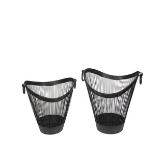 Privilege Black Iron Containers (Set of 2)