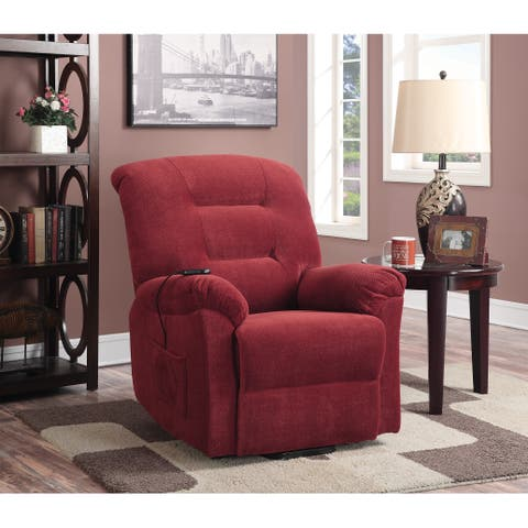 Coaster Company Red Power Lift Fabric Recliner