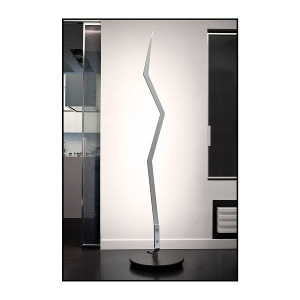 Contempo Lights Crackle Stainless Steel 63-inch LED Dimmable Floor Lamp