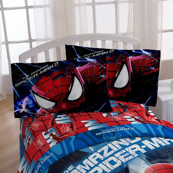 Marvel Spiderman Oversize Twin Comforter With Pillow Buddy Set Multi Overstock 12509033