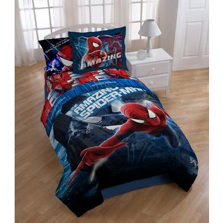 Marvel Spiderman Oversize Twin Comforter with Pillow Buddy Set
