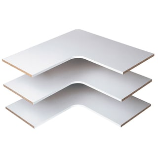 Easy Track RS3003-C Cherry Easy Track Corner Shelves 3-count