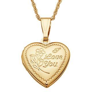 Kids Goldtone 'I Love You' Engraved Heart Locket|https://ak1.ostkcdn.com/images/products/12509065/P19316346.jpg?impolicy=medium