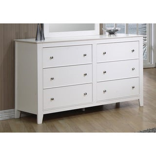 Coaster Furniture Dresser in White Selena