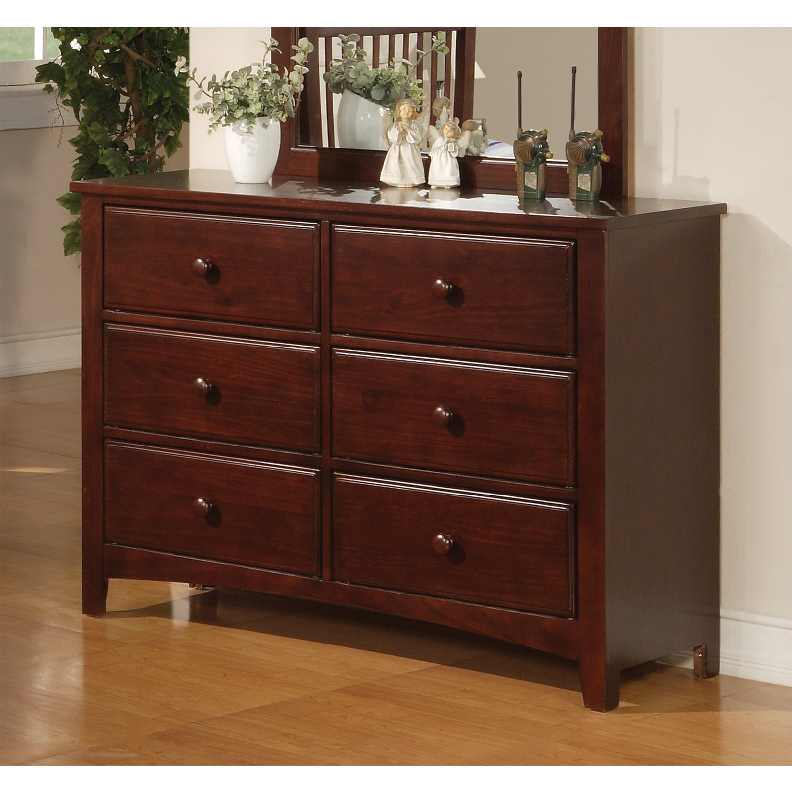 Picture of: Shop Coaster Company Cherry Brown Mdf 6 Drawer Dresser Overstock 12509078