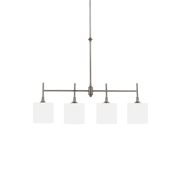 Sea Gull Stirling 4 Light Brushed Nickel Pendant