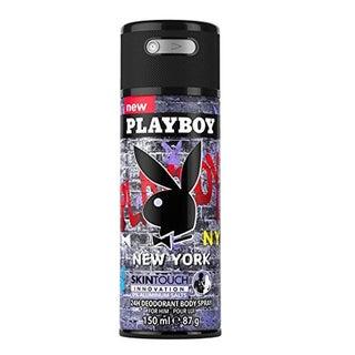 Playboy New York Men's 24-hour Deodorant 5-ounce Body Spray