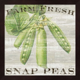 Sue Schlabach 'Farm Fresh Peas' Framed Art