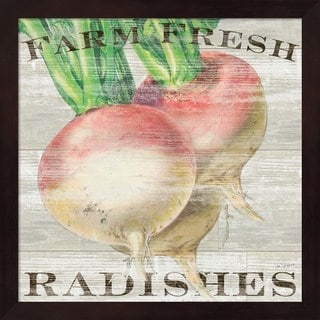 Sue Schlabach 'Farm Fresh Radishes' Framed Art