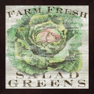 Sue Schlabach 'Farm Fresh Greens' Framed Art