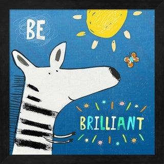 Carla Martell 'Be Brilliant' Wood Framed Art